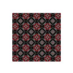 Abstract Black And Red Pattern Satin Bandana Scarf