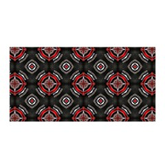 Abstract Black And Red Pattern Satin Wrap