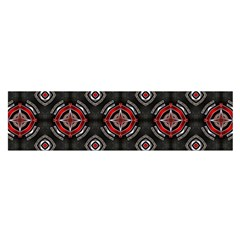 Abstract Black And Red Pattern Satin Scarf (oblong)