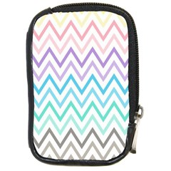 Colorful Wavy Lines Compact Camera Cases