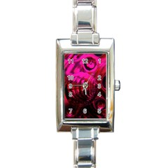 Abstract Bubble Background Rectangle Italian Charm Watch