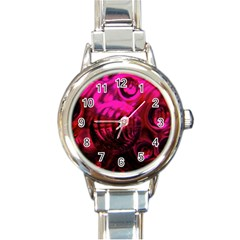 Abstract Bubble Background Round Italian Charm Watch