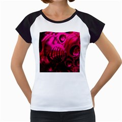 Abstract Bubble Background Women s Cap Sleeve T