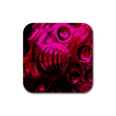 Abstract Bubble Background Rubber Square Coaster (4 Pack)