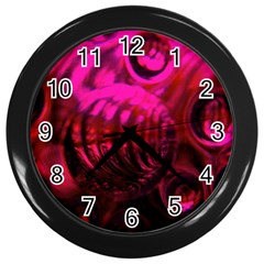 Abstract Bubble Background Wall Clocks (black)
