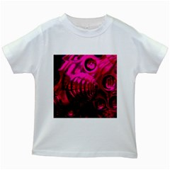 Abstract Bubble Background Kids White T Shirts