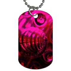 Abstract Bubble Background Dog Tag (two Sides)