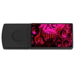 Abstract Bubble Background USB Flash Drive Rectangular (1 GB)