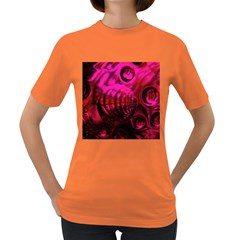 Abstract Bubble Background Women s Dark T Shirt