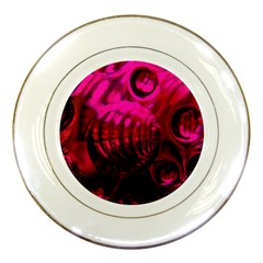 Abstract Bubble Background Porcelain Plates