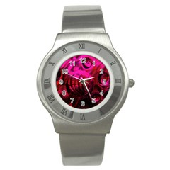Abstract Bubble Background Stainless Steel Watch