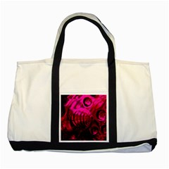 Abstract Bubble Background Two Tone Tote Bag