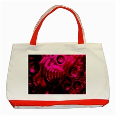 Abstract Bubble Background Classic Tote Bag (red)