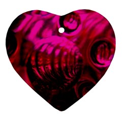 Abstract Bubble Background Heart Ornament (two Sides)