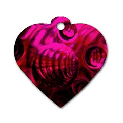 Abstract Bubble Background Dog Tag Heart (two Sides)