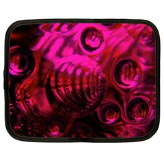 Abstract Bubble Background Netbook Case (large)
