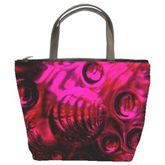 Abstract Bubble Background Bucket Bags