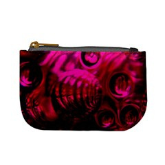 Abstract Bubble Background Mini Coin Purses
