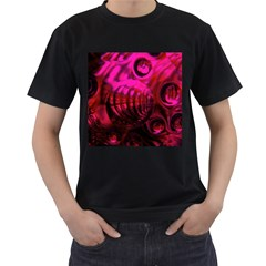 Abstract Bubble Background Men s T Shirt (black)