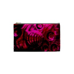 Abstract Bubble Background Cosmetic Bag (Small)