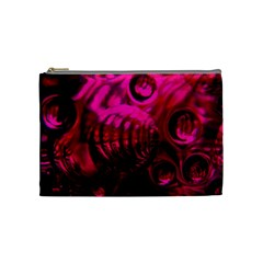 Abstract Bubble Background Cosmetic Bag (Medium)