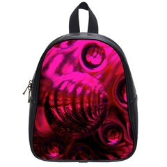 Abstract Bubble Background School Bags (small)