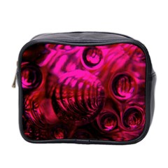 Abstract Bubble Background Mini Toiletries Bag 2 Side