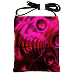 Abstract Bubble Background Shoulder Sling Bags