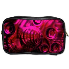 Abstract Bubble Background Toiletries Bags 2 Side