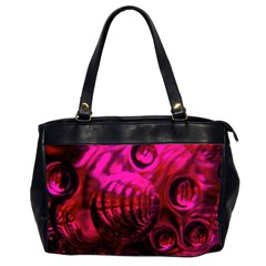 Abstract Bubble Background Office Handbags (2 Sides)
