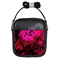 Abstract Bubble Background Girls Sling Bags
