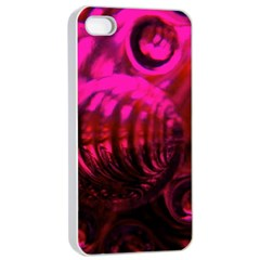 Abstract Bubble Background Apple Iphone 4/4s Seamless Case (white)