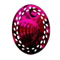 Abstract Bubble Background Oval Filigree Ornament (two Sides)