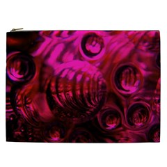 Abstract Bubble Background Cosmetic Bag (xxl)