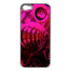Abstract Bubble Background Apple Iphone 5 Case (silver)