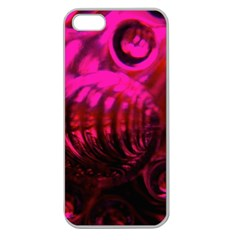 Abstract Bubble Background Apple Seamless Iphone 5 Case (clear)