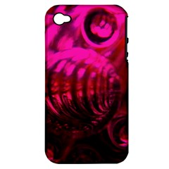 Abstract Bubble Background Apple Iphone 4/4s Hardshell Case (pc+silicone)