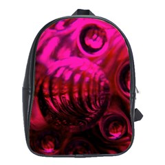 Abstract Bubble Background School Bags (xl)