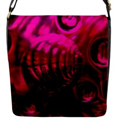 Abstract Bubble Background Flap Messenger Bag (s)