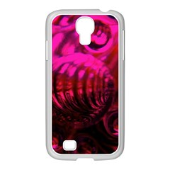 Abstract Bubble Background Samsung Galaxy S4 I9500/ I9505 Case (white)