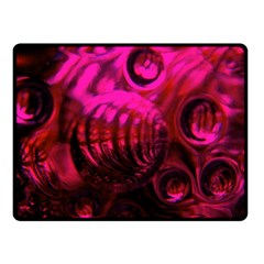 Abstract Bubble Background Double Sided Fleece Blanket (small)