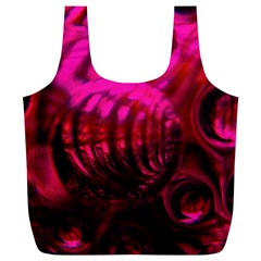 Abstract Bubble Background Full Print Recycle Bags (l)