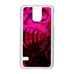 Abstract Bubble Background Samsung Galaxy S5 Case (White)