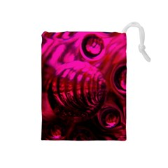 Abstract Bubble Background Drawstring Pouches (medium)