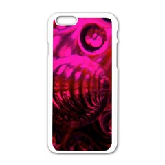Abstract Bubble Background Apple Iphone 6/6s White Enamel Case