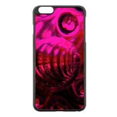 Abstract Bubble Background Apple Iphone 6 Plus/6s Plus Black Enamel Case