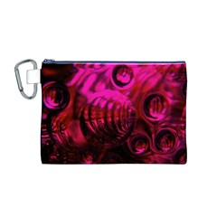 Abstract Bubble Background Canvas Cosmetic Bag (m)