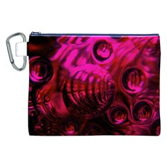 Abstract Bubble Background Canvas Cosmetic Bag (xxl)