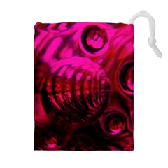Abstract Bubble Background Drawstring Pouches (extra Large)