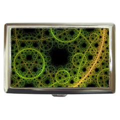 Abstract Circles Yellow Black Cigarette Money Cases